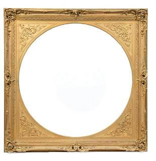 Continental Rococo Carved Giltwood Frame