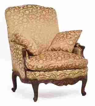 Louis XV-Style Mahogany Bergere