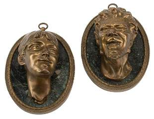 French Bronze and Marble Portrait Busts