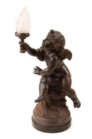 English Cast Iron Figural Lamp