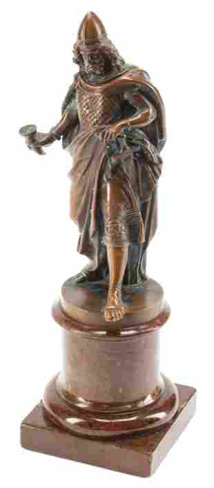 Patinated Bronze Figure of a Knight