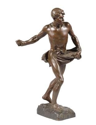 """Bronze Figure of """"Fac et Spera"""""""