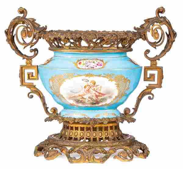 Sevres-Style Porcelain Centerpiece