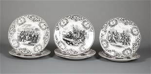 Boch Freres Creamware Napoleonic Plates