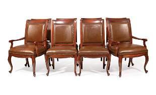 Louis XV-Style Mahogany Dining Chairs