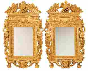 Louis XIV-Style Carved Giltwood Mirrors