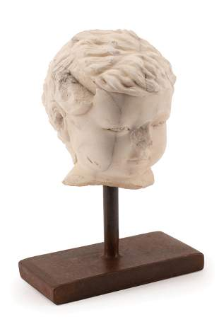 Hellenistic-Style Marble Bust of a Child