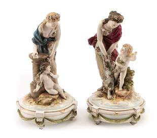 German Porcelain Figural Groups