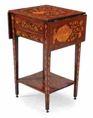 Dutch Marquetry Occasional Table