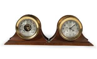 Chelsea Ship's Bell and Barometer Desk Set