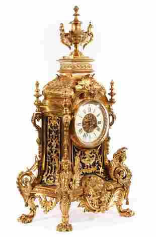 Louis XVI-Style Bronze Mantel Clock