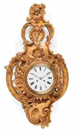 Louis XV-Style Cartel Clock