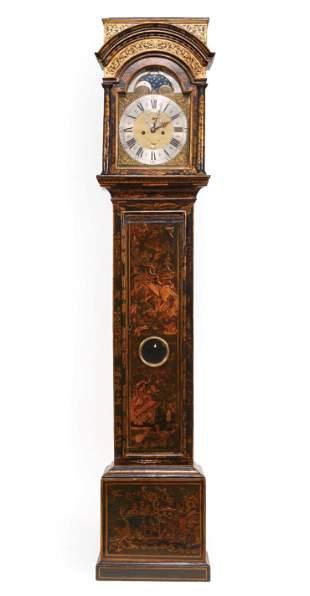 English Chinoiserie Tall Case Clock
