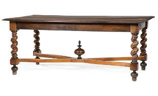 Jacobean-Style Fruitwood Dining Table