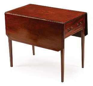 George III Inlaid Mahogany Pembroke Table
