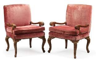George II-Style Parcel Gilt Armchairs