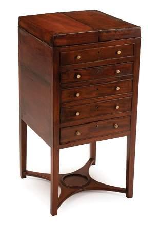 Carved Mahogany Beau Brummel Dressing Table