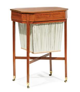 Regency Inlaid Satinwood Sewing Table