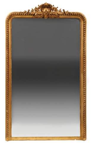 Scottish Carved Giltwood Mirror