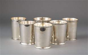 Six American Sterling Silver Julep Cups