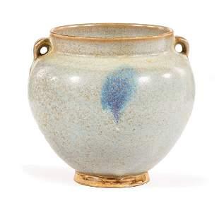 Chinese Jun-Style Pottery Jar