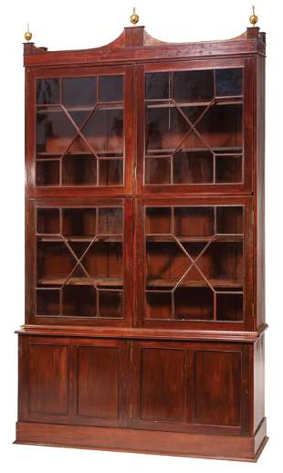 Monumental American Federal-Style Bookcase