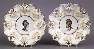 Pair of Antique Berlin Porcelain Bow