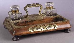 English Brass-Mounted Oak Double In