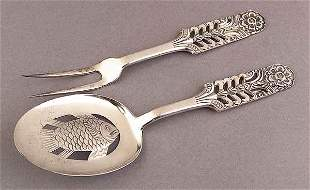 Pair of NorwegiSterling Silver Fi