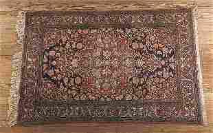 0759: Good Antique Keshan Carpet