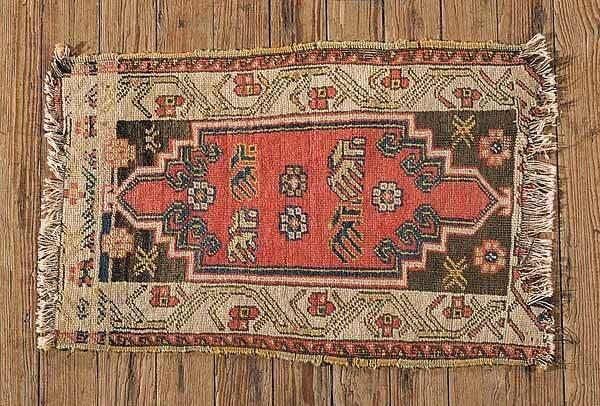 0765: Antique Turkish Small Carpet