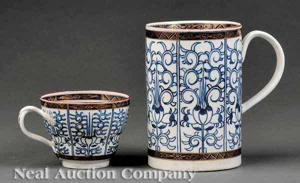 0008: Worcester Dr. Wall 1st Period Tall Mug & Teacup