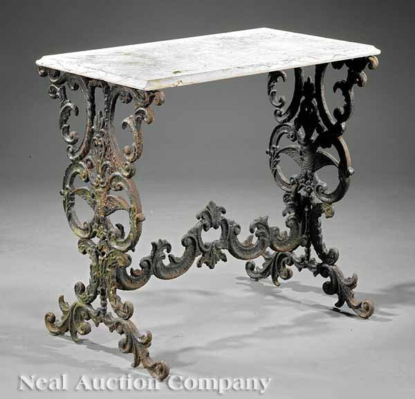 0019: American Cast Iron Console Table