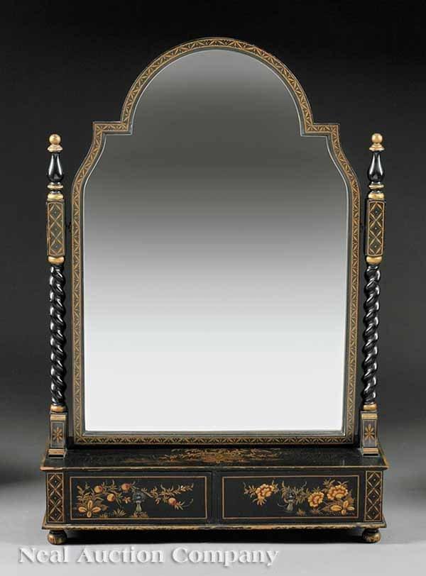 0021: Georgian-Style Chinoiserie Dressing Mirror