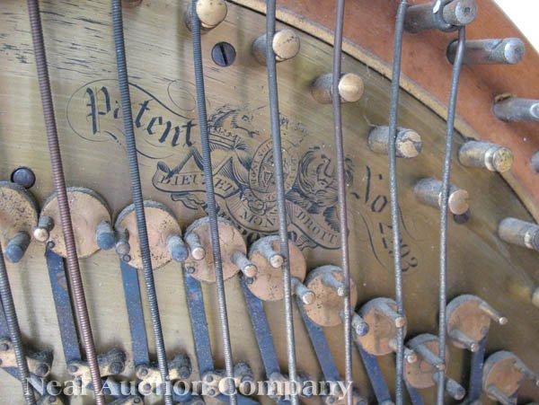 0125: J.F. Browne & Co. Giltwood Pedal Harp - 3