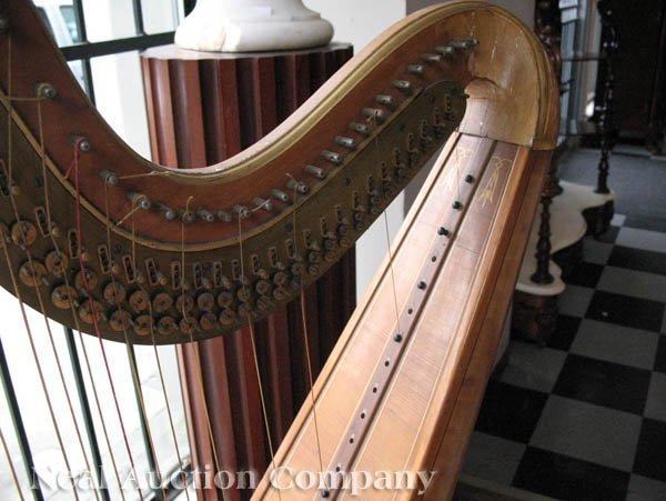 0125: J.F. Browne & Co. Giltwood Pedal Harp - 4