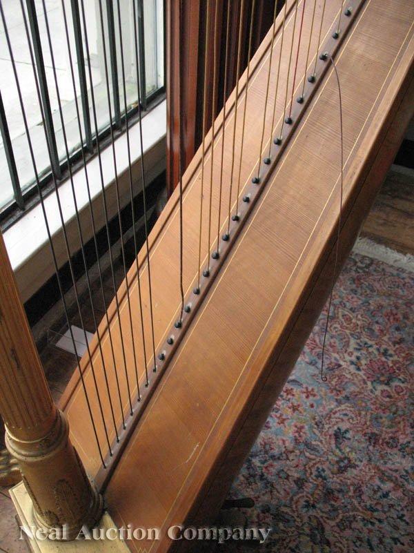 0125: J.F. Browne & Co. Giltwood Pedal Harp - 5