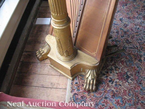 0125: J.F. Browne & Co. Giltwood Pedal Harp - 6
