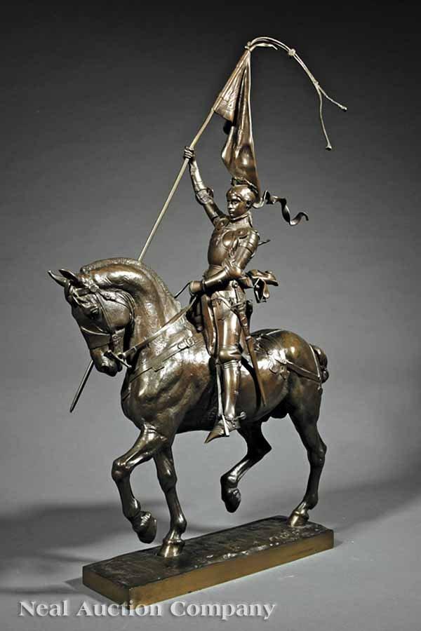 """0238: Bronze Statue of """"Jeanne d'Arc"""" after Frémiet"""