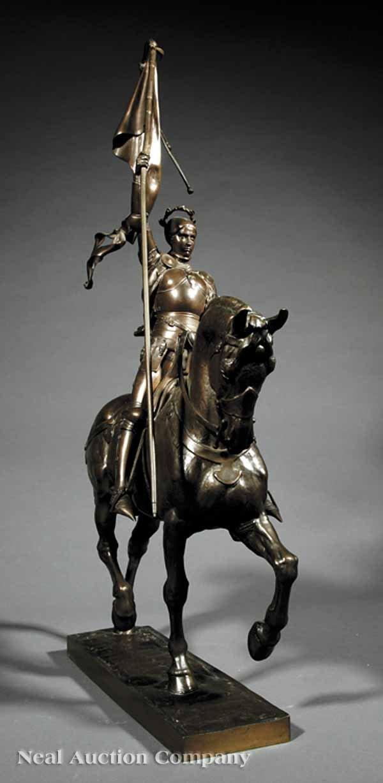 """0238: Bronze Statue of """"Jeanne d'Arc"""" after Frémiet  - 2"""