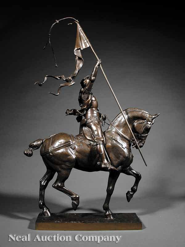 """0238: Bronze Statue of """"Jeanne d'Arc"""" after Frémiet  - 3"""