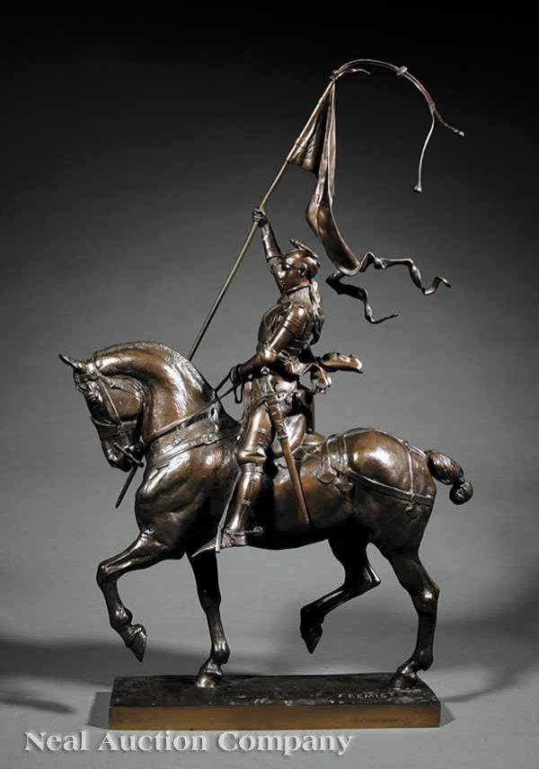 """0238: Bronze Statue of """"Jeanne d'Arc"""" after Frémiet  - 4"""