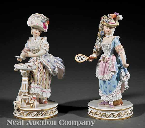 757: Two Meissen Porcelain Figures