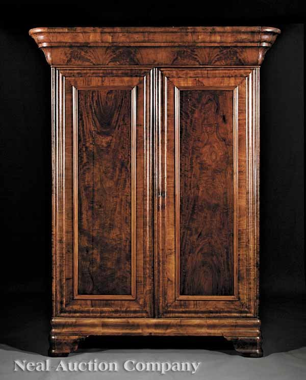 974: American Late Classical Mahogany Armoire