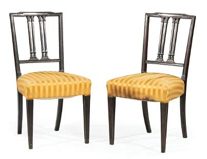 Federal Carved Mahogany Side Chairs