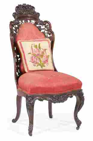 American Rococo Laminated Rosewood Parlour Chair