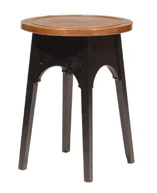 American Craftsman Ebonized Oak Side Table