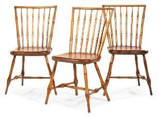 American Pine Bamboo-Turned Windsor Chairs