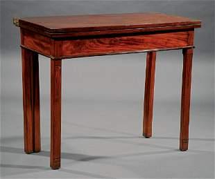 George III Inlaid Mahogany Games Table