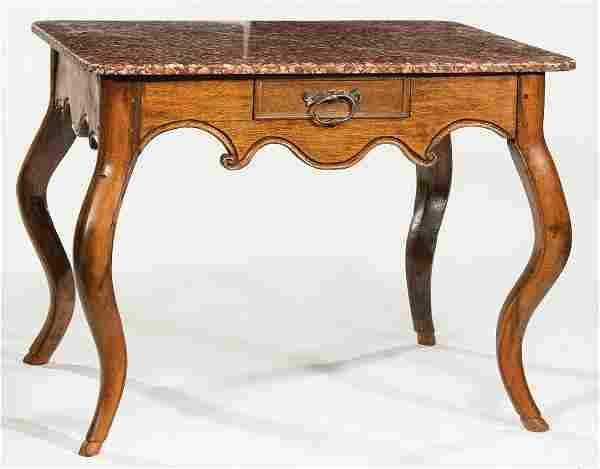 Louis XV-Style Pied de Biche Side Table
